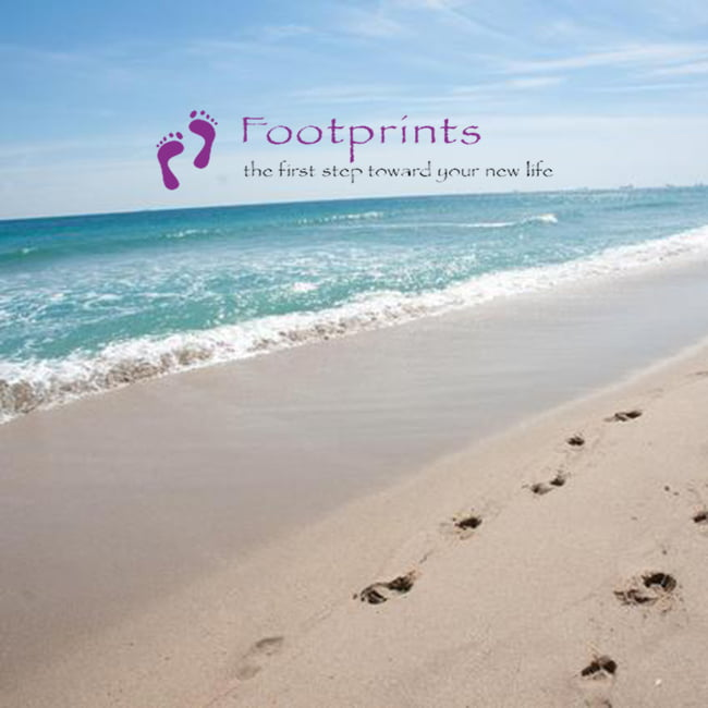 Footprints Recovery Home Logo