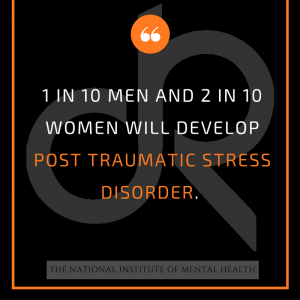 Mental health stat for PTSD & addiction