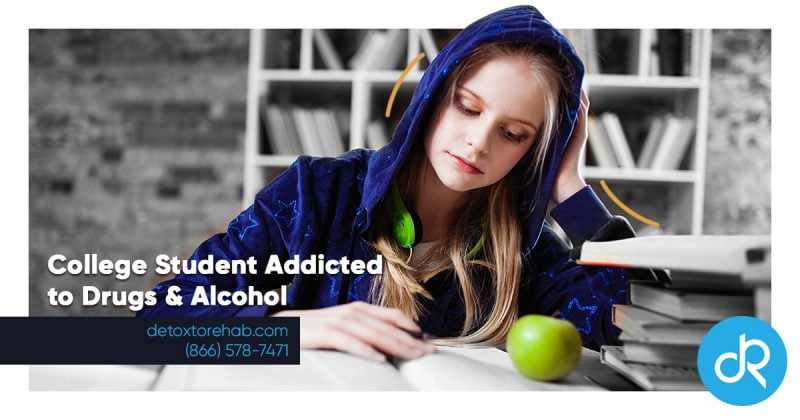 college student addiction to drugs and alcohol header image