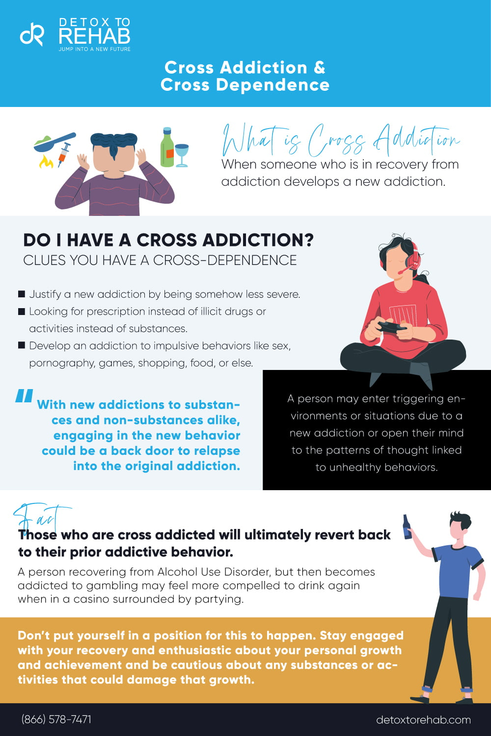 cross addiction infographic
