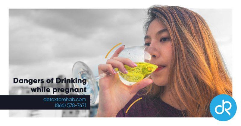 dangers of drinking pregnant header