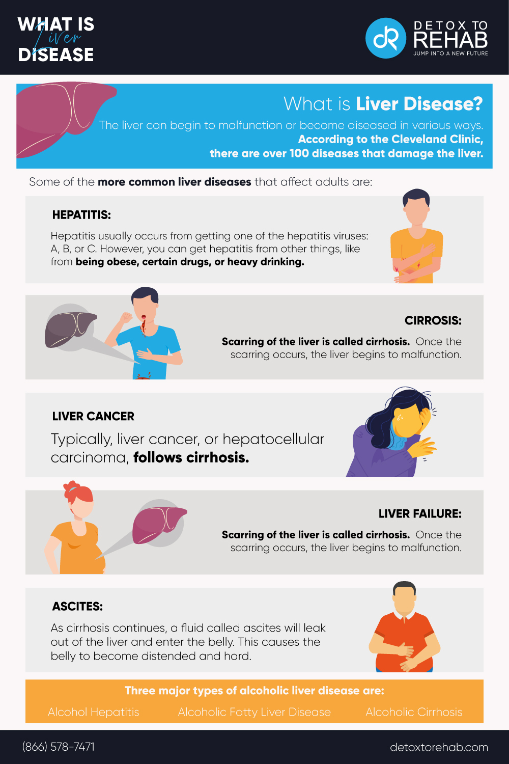 what is liver disease infographic