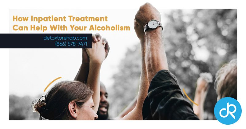 Benefits of Inpatient Alcohol Rehab to Treat Alcoholism header image